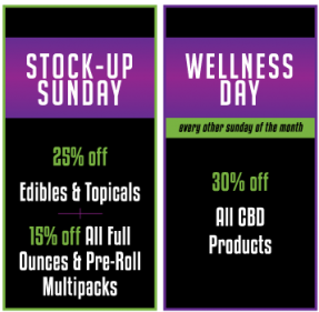TheGreenNugget CannabisMarijuanaRetailer DailySpecials.StockUpSunday WellnessCBD